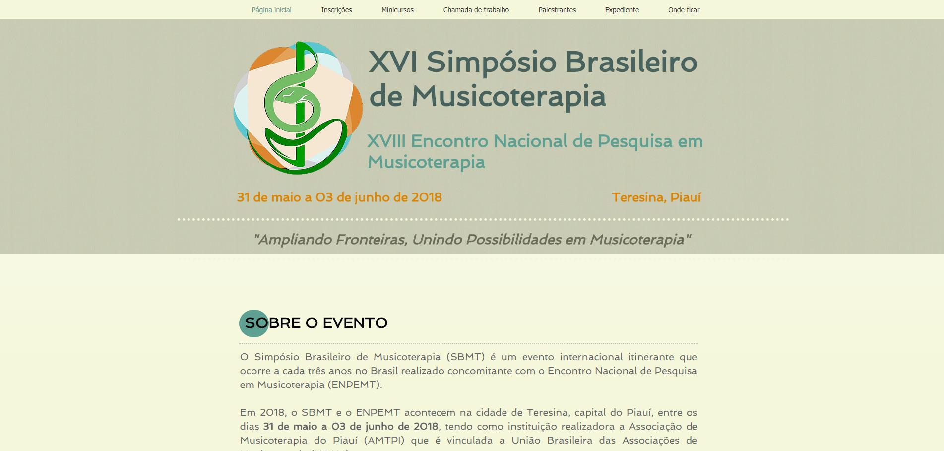 XVI Simpósio Brasileiro de Musicoterapia